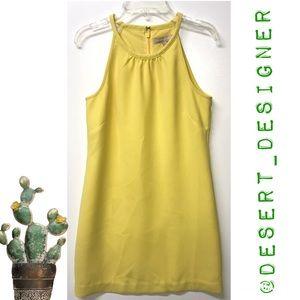 Banana Republic Yellow Tank Shift Dress Sz 00P